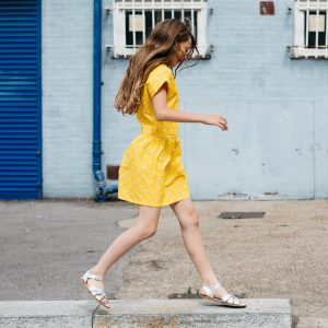 La La Land yellow dress girls summer